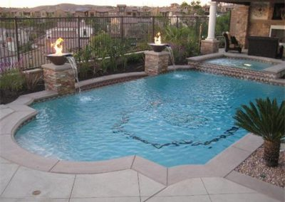 austin-grecian-style-pool-with-fire-accents