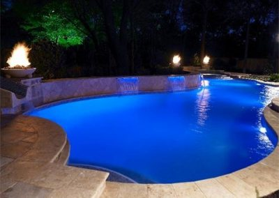 texas-swimming-pool-fire-accents-and-waterfalls