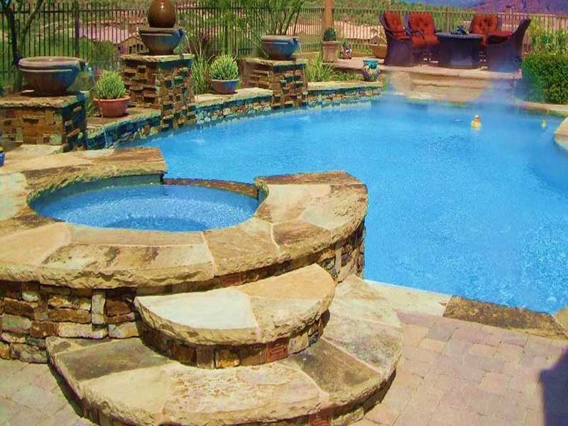 Pool features kb custom pools bee cave tx for Custom pool and spa